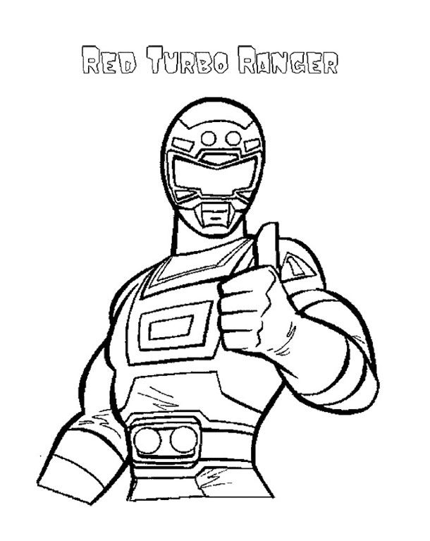 Free coloring pages of power ranger red ranger