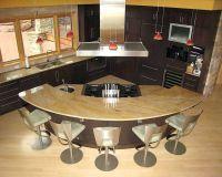 Curved kitchen island | kitchens I like | Pinterest