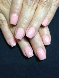 Plain pink nails | Acrylic nail designs | Pinterest