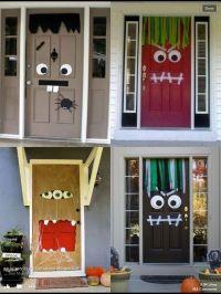 Halloween DIY front door decorations