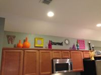 Top of kitchen cabinets decorations   Decor   Pinterest