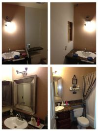 Small bathroom DIY remodeling. | For the Home | Pinterest