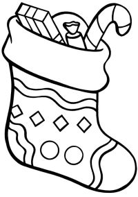 Free coloring pages of xmas stocking