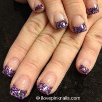 Purple Acrylic Nails | Beauty and Glamour. | Pinterest