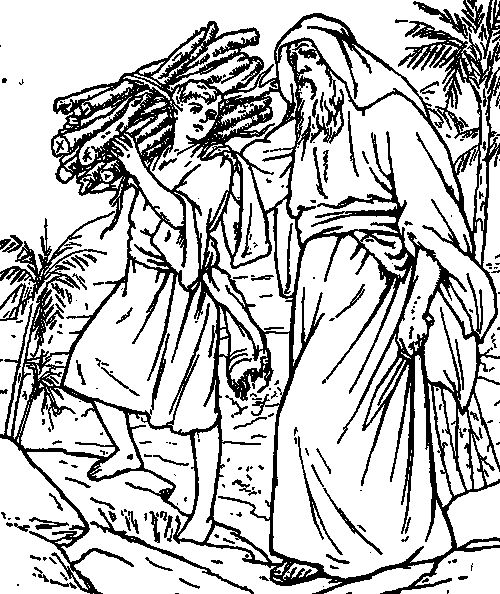 Abraham Offers Isaac Coloring Page Coloring Pages