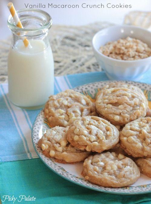 Vanilla Macaroon Crunch Cookies