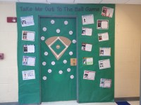 Baseball classroom door | Sports theme | Pinterest