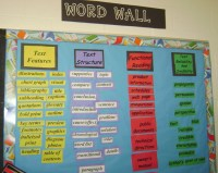 Middle School Reading Word Wall - neat different ideas ...