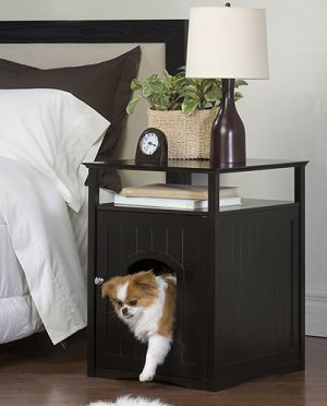 nightstand that doubles as a bed for your furry little friend