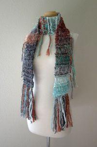 bohemian knit scarf | Knit Knacks | Pinterest