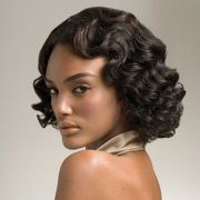 retro curls hair relaxed weaved wigs-black african-american