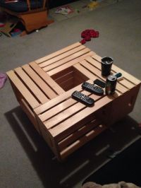 Apple crate end table and coffee tables | Our creations ...