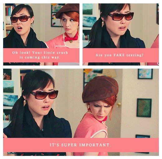 Charlotte as Caroline and Jane as Darcy -- Lizzie Bennet Diaries = AWESOME.