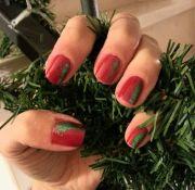 classy christmas nails. nail