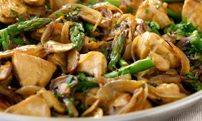 Dukan Diet Chicken and Mushrooms with Asparagus - Read More at Relish.com