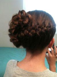 Wedding hairstyle, jr bridesmaid hair , braid | Katina's ...