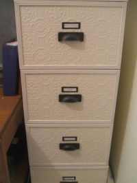Wallpaper & redo metal filing cabinet~m   For the Home ...