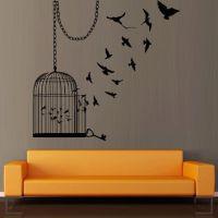 Wall decal decor decals art sticker birdcage cage bird ...