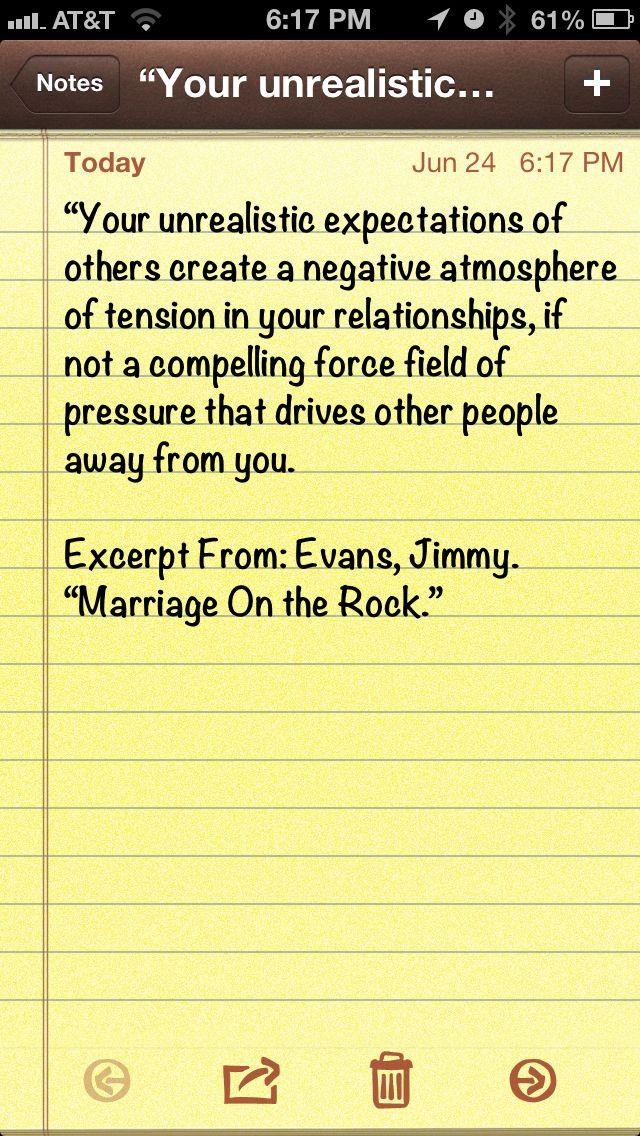 Unrealistic Expectations Quotes Quotesgram