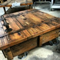 Warehouse cart coffee table. | Hooligan projects | Pinterest