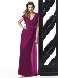 Magenta Colored Bridesmaid Dress