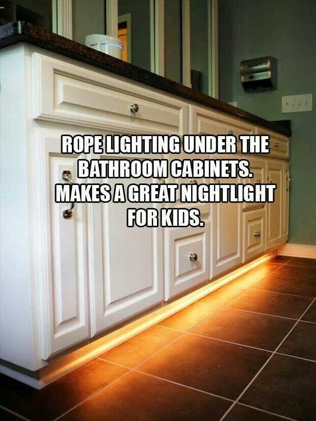 Nightlight for kids bathroom. Nice idea.
