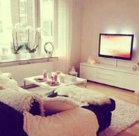 Cute little living room set up...   The Single Life ...