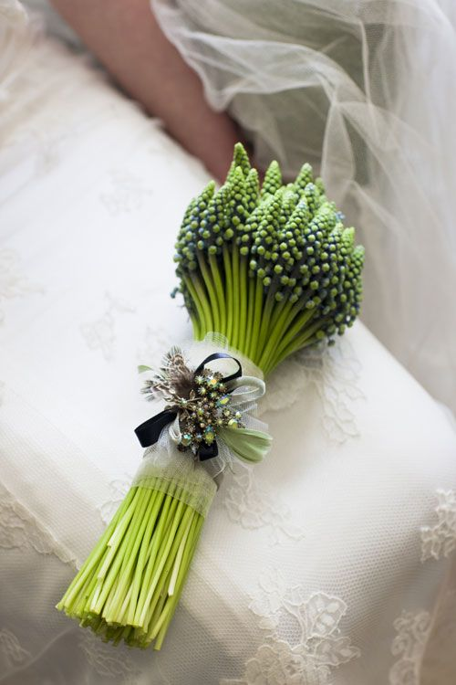 букет невесты мускари