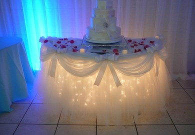 Lighted Table Skirts For Wedding