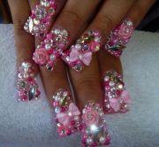 blinged nail art design