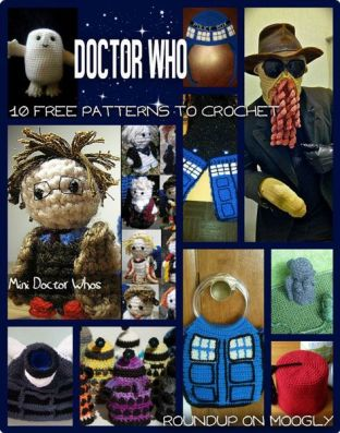 Doctor Who Crochet Patterns - all free! Grab your hooks and allons-y!