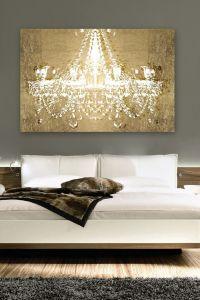 Gold chandelier | canvas art | Home | Pinterest