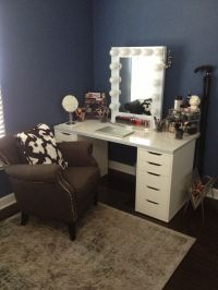 Make your own Vanity- Drawers- ikea Alex Table Top- ikea ...