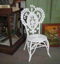 Vintage Victorian White Wicker Chair | For the Home ...