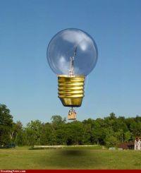 Light Bulb! | Hot Air Balloons | Pinterest