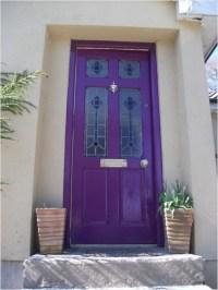 Purple Front Door- The Aldridges'   Reminds me of ...