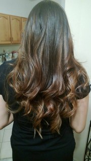 subtle ombre highlights hair