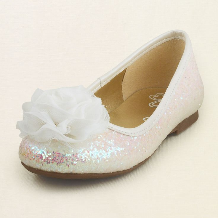 sparkle flower ballet flat; flower girl shoes| The Children's Place