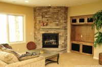 Decosee: Stone Corner Fireplace