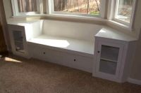 bay window bench with book shelves | For the Home | Pinterest