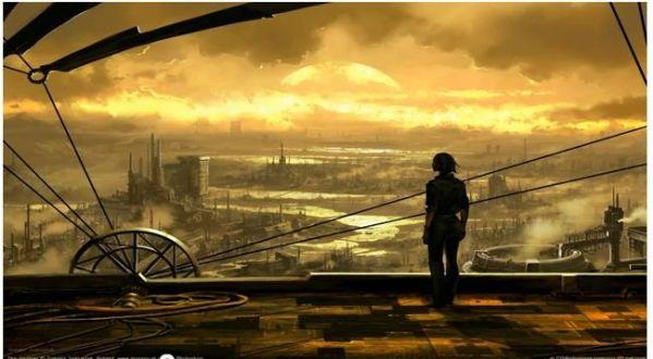 steampunk landscape - imgur inspiration