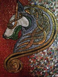 Bottle Cap Art | Bottles | Pinterest