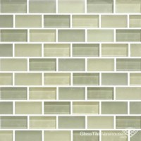 green glass tile backsplash | My Style | Pinterest