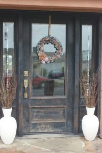 Rustic Winter Front Door | Winter Wonderland | Pinterest