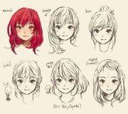 anime hair styles drawing