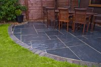 Blue-Black Slate Patio | Outdoor Living Inspirations ...