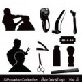 Barber shop silhouette vector barberia pinterest