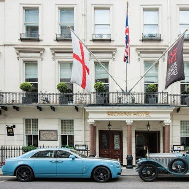 May: Ahead of June's recreation of a 100-year old event, a 2013 Alpine Centenary Collection Ghost appears outside Brown's Hotel in London's Mayfair alongside the legendary car whose exploits it celebrates – the Silver Ghost in which pioneering driver James Radley set off from this exact spot for the 1913 Alpine Trial.