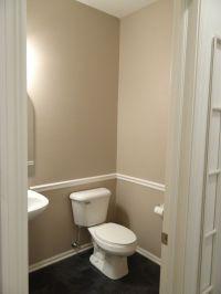 bathroom with chair rail | Bathroom Ideas | Pinterest
