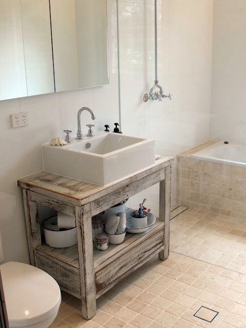 Driftwood vanity  Upstairs bathroom  Pinterest